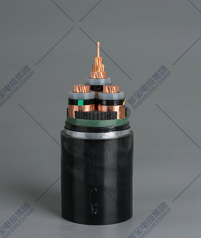 Copper (aluminum) conductor XLPE insulated steel tape armored PVC sheathed power cable