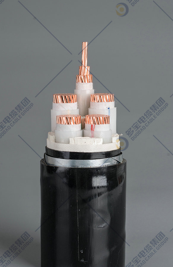 Copper-conductor XLPE insulated steel tape armored polyolefin sheathed LSZH flame-retardant fire-resistant power cable